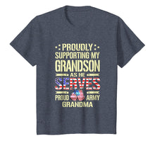 Afbeelding in Gallery-weergave laden, Supporting My Grandson As He Serves Proud Army Grandma Shirt