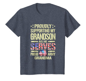 Supporting My Grandson As He Serves Proud Army Grandma Shirt