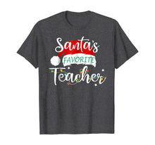 Afbeelding in Gallery-weergave laden, Santa's Favorite Teacher Santa Hat Christmas Light Tshirt