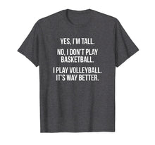 Afbeelding in Gallery-weergave laden, Tall people play volleyball funny graphic tee shirt gift