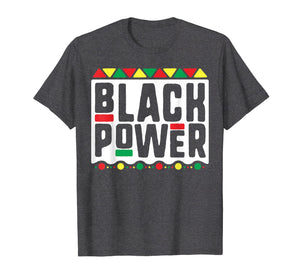 Black Power T-Shirt for Men Women Kids History Month Africa
