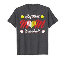 Afbeelding in Gallery-weergave laden, Baseball Heart T Shirt, Gift for Softball Mom or Dad, Team