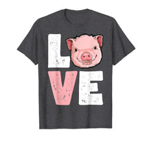 Afbeelding in Gallery-weergave laden, I Love Pigs T shirt Pig Lovers Farming Farmer Girls Gifts