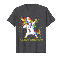 Afbeelding in Gallery-weergave laden, Embrace Differences Dabbing Unicorn Shirt Autism Awareness