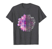 Afbeelding in Gallery-weergave laden, I Was Born To Be A Teacher Shirt Purple flower T-shirt