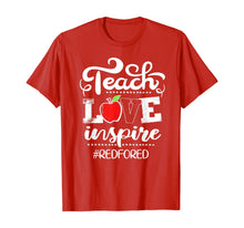 Afbeelding in Gallery-weergave laden, Teach Love Inspire Red For Ed Gift Teacher Supporter T-Shirt