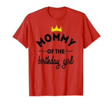 Afbeelding in Gallery-weergave laden, Mommy of the Birthday Girl Party TShirt Clothing for Mom