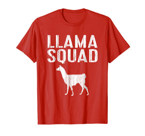 Llama Squad T-Shirt Animal Lover Gift Shirt