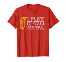 Afbeelding in Gallery-weergave laden, Tuba Shirt I Play Heavy Metal Band Distressed Funny Band