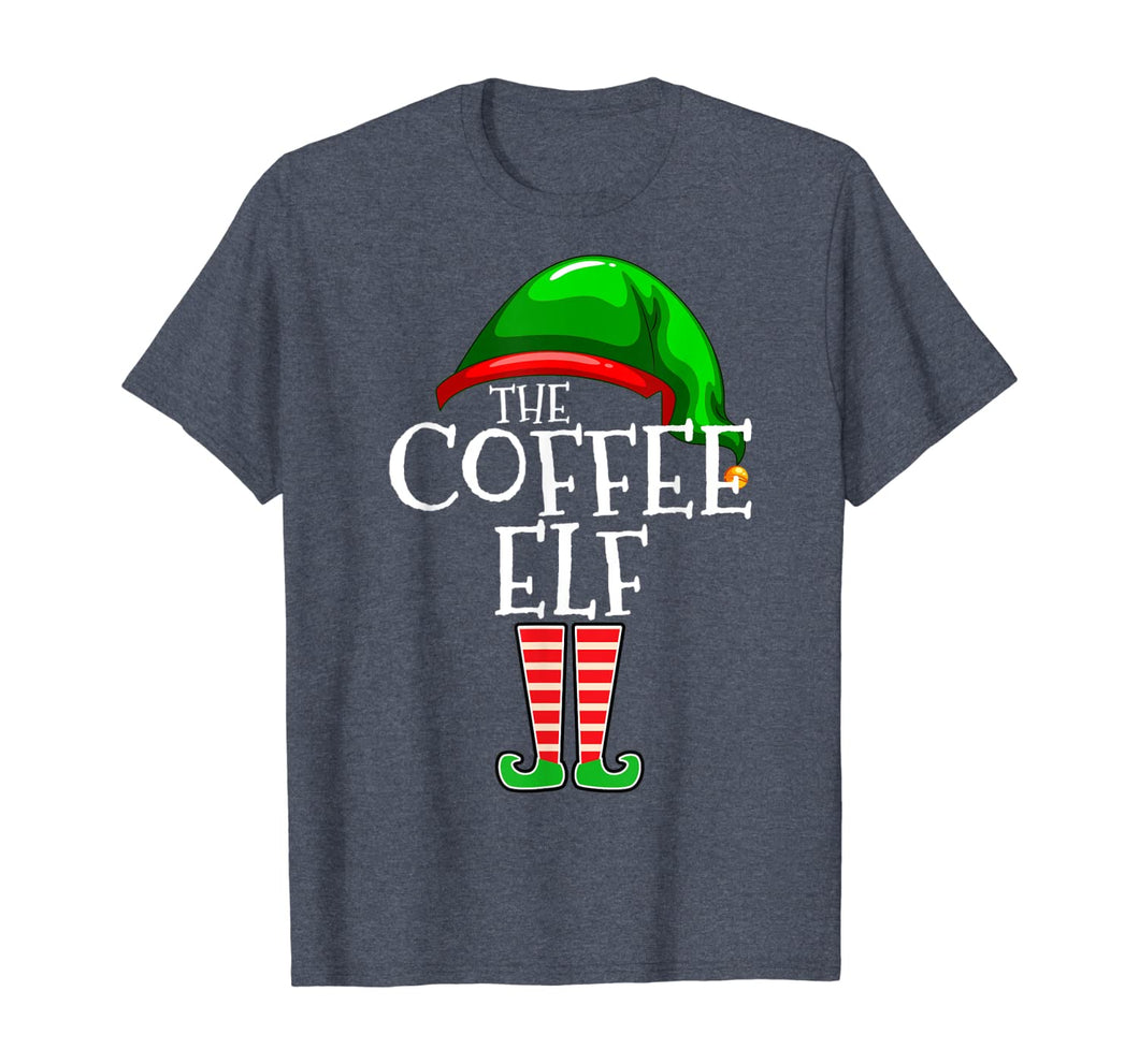 The Coffee Elf Group Matching Family Christmas Gifts Funny T-Shirt