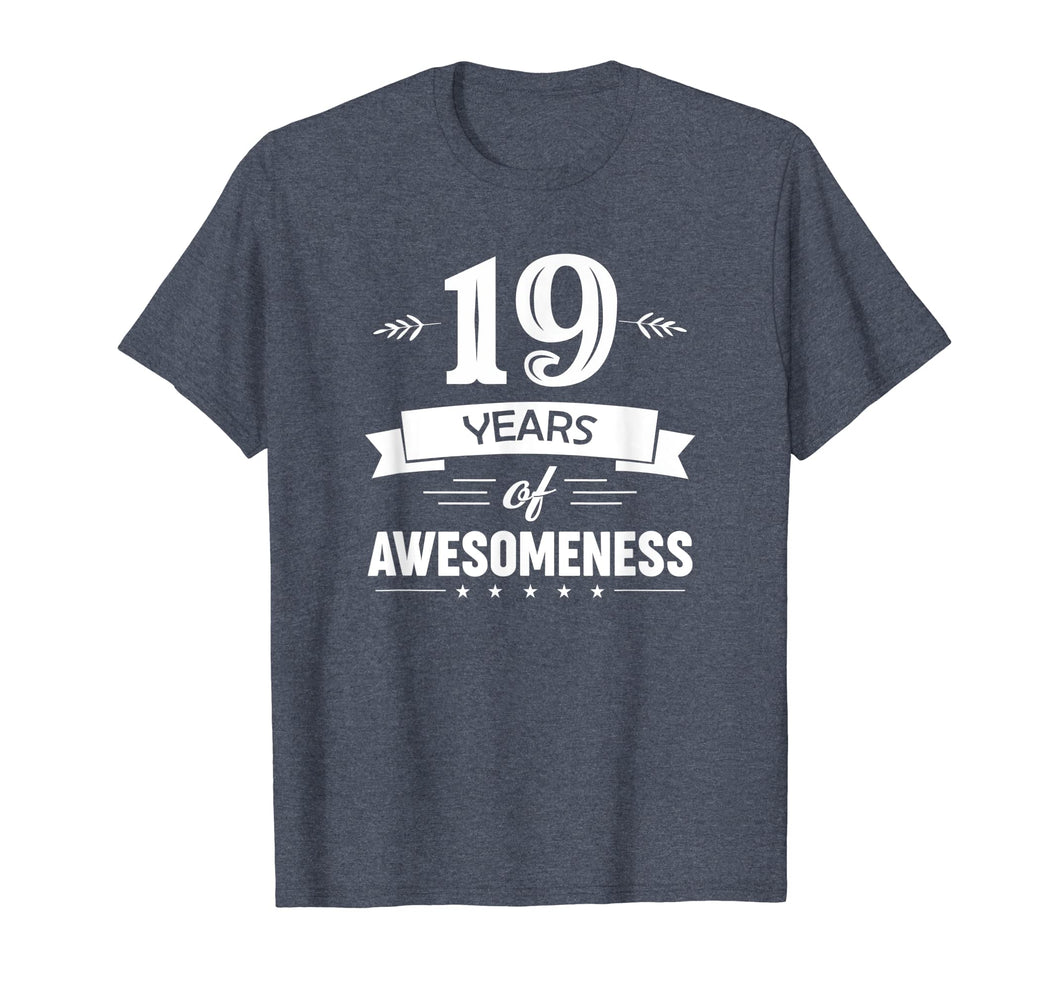 19 Years Of Awesomeness T-shirt Birthday Gift T-Shirt