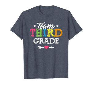 Team Third Grade Shirt Teacher Student Back To School Kids
