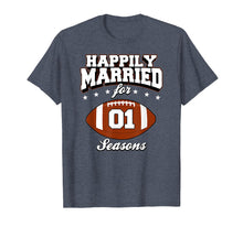 Afbeelding in Gallery-weergave laden, 1 Years Wedding Anniversary T-Shirt Football Couple Gift