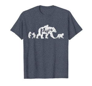 Papa Bear T Shirt with Four Cubs