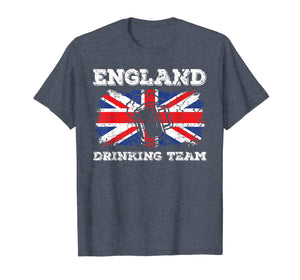 England Drinking Team T-Shirt Funny Beer Party Tee Gift