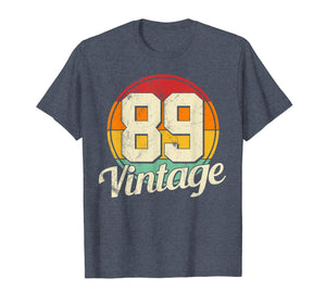 30th Birthday T-Shirt - Vintage 1989 Retro Shirt Gift Idea