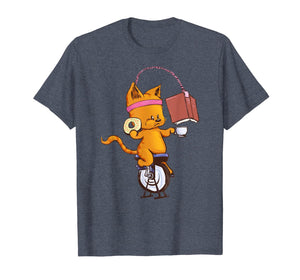 Spin Class, Cats, Book, Coffee Gift T-Shirt