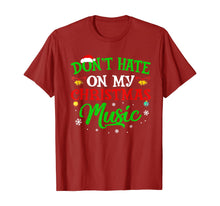 Afbeelding in Gallery-weergave laden, Ugly Christmas Don_t Hate On My Christmas Music T-Shirt
