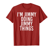 Afbeelding in Gallery-weergave laden, I'M JIMMY DOING JIMMY THINGS Shirt Funny Christmas Gift Idea