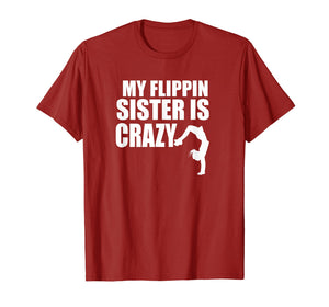 Brother Sister Gymnastics Tumbling Cute Gymnast Flip T-Shirt