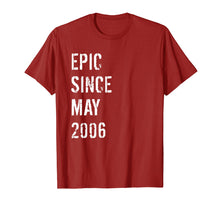 Afbeelding in Gallery-weergave laden, 13th Birthday Gift Epic Since May 2006 T-Shirt