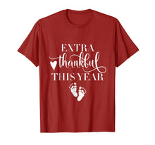 Afbeelding in Gallery-weergave laden, Extra Thankful This Year Love Funny Turkey Pregnancy T shirt