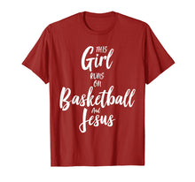 Afbeelding in Gallery-weergave laden, Basketball & Jesus T Shirt: This Girl Runs On Christ Tee