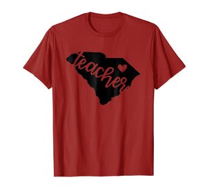 South Carolina Teacher State Pride T-Shirt for Educators
