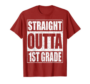 Straight Outta 1st Grade T-Shirt Funny 2019 Graduation Shirt