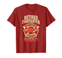 Afbeelding in Gallery-weergave laden, Mens Heroic Retired Firefighter T Shirt Fireman Gift Idea