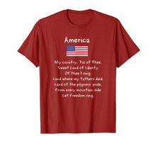 Afbeelding in Gallery-weergave laden, America My Country Song Patriotic USA 4th Of July T-Shirt