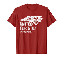 Afbeelding in Gallery-weergave laden, NC red for ed - North Carolina teacher strike t-shirt