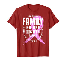 Afbeelding in Gallery-weergave laden, In This Family No One Fights Alone Breast Cancer Shirt