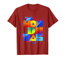 Afbeelding in Gallery-weergave laden, Catracho, Honduras T shirt colorfull letters