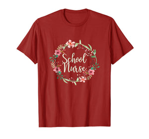 School Nurse, Medical Nursing Gift T shirt for Ladies, 4D