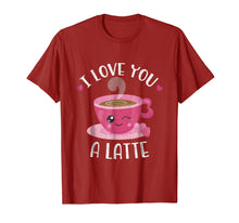 Afbeelding in Gallery-weergave laden, I Love You A Latte - Coffee Lovers Valentines Day Shirt
