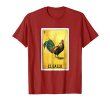 Afbeelding in Gallery-weergave laden, El Gallo Loteria Shirt Mexican Rooster Loteria Card T Shirt