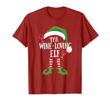 Afbeelding in Gallery-weergave laden, The Wine Loving Elf Group Matching Family Christmas Gift T-Shirt