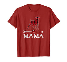 Afbeelding in Gallery-weergave laden, Womens Red Plaid Mama Boxer Dog Mom Buffalo Pajama T-Shirt