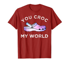 Afbeelding in Gallery-weergave laden, You Croc My World Funny Galaxy Croc Gift T-Shirt