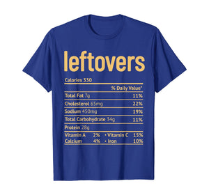 Thanksgiving Leftovers Nutrition Facts Funny Christmas T-Shirt