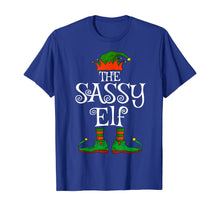 Afbeelding in Gallery-weergave laden, The Sassy Elf Family Matching Funny Christmas Gift Women T-Shirt