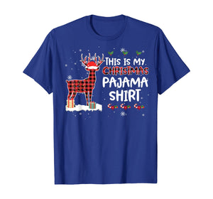 This Is My Christmas Pajama Shirt Deer Xmas Costume T-Shirt