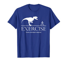 Afbeelding in Gallery-weergave laden, Exercise Motivation Required Funny T-rex Running Tshirt