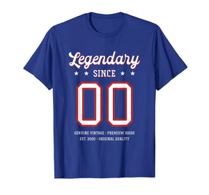 19th Birthday Gift T-Shirt Legendary Since 2000