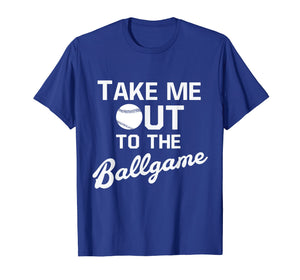 Take Me Out To The Ballgame Baseball Old School Sports Tee