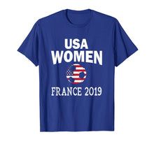 Afbeelding in Gallery-weergave laden, USA United States Women 2019 T Shirt Soccer Football Flag