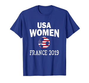 USA United States Women 2019 T Shirt Soccer Football Flag