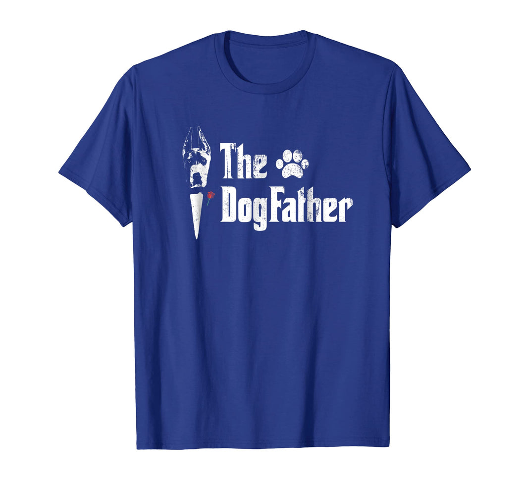 Mens The Dogfather Great Dane Dog Dad Tshirt Father's Day Gift
