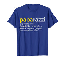 Afbeelding in Gallery-weergave laden, Mens Grandfather Photographer T-shirt PAPArazzi definition